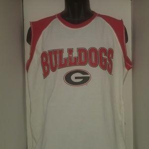 Georgia Bulldog Sleeveless T Shirt